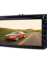 Quad Core 2 Din Pure Android 4.4 Car DVD Player for Volkswagen 8 Inch 1024*600 Radio Audio with WIFI,CANBUS