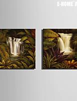 Paesaggio Print Canvas Due pannelli Pronto da appendere,Quadrato