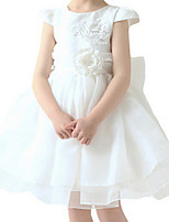 Girl's Blue / Beige Dress Polyester Spring / Fall