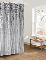 Modern Black Polka Dots Rectangle Shower Curtain 71x72inch,71x79inch