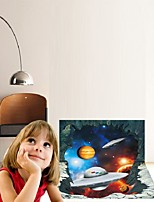 Vinilos Paredes Alien Spaceship Waterproof Wall Sticker For Kids Rooms For Home Decoration Wall Stickers Home Decor