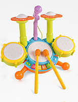 Colourful Drum Set Light Up Multi-Function Plastic Music Toy