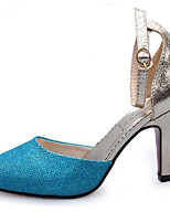 Women's Shoes Synthetic Stiletto Heel Heels Heels Party & Evening Blue / Silver / Gold