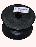 300M / 330 Yards Lenza intrecciata PE / Dyneema Nero 20LB 0.2 mm PerPesca di mare / Pesca a mosca / Pesca a mulinello / Spinning / Pesca