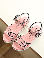 Girls' Shoes Dress / Casual Comfort Faux Leather Sandals Pink / Red / White