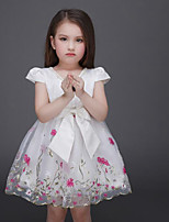 Girl's White Dress Rayon Summer / Spring / Fall