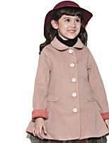 Girl's Pink / Beige Jacket & Coat Wool Winter / Spring / Fall