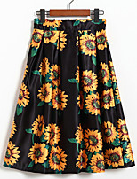 Women's Floral  Casual / Day / Holiday Knee-length K139-3