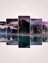 Moderno Impresión de la lona Cinco Paneles Listo para colgar,Horizontal