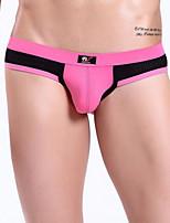 Men's Nylon / Spandex Color Block Briefs Men's Breathable Underwear