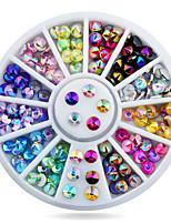 1wheel Sharp End Colorful Rhinestones 3d Nail Art Decorations