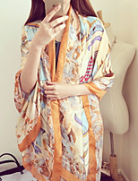 The New Sunscreen Scarf Sailing Pattern Printed Scarves  Satin Silk Shawl wholesale
