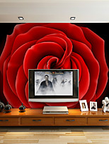 Décoration artistique Papier peint Contemporain Revêtement,Autre Large 3D Mural Wallpaper Roses