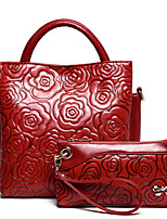 VUITTON Women PU Barrel Shoulder Bag / Tote / Satchel / Clutch-Green / Brown / Red