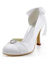 Wedding Shoes-Saltos-Saltos / Arrendondado-Branco-Feminino-Casamento / Festas & Noite / Social