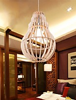 12W Vintage LED Veneer Lamp Wood Chandeliers Living Room / Bedroom / Dining Room / Study Room/Office / Hallway
