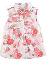 Girl's Pink Dress Cotton Summer / Spring