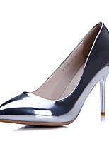 Zapatos de mujer-Tacón Stiletto-Tacones / Puntiagudos-Tacones-Oficina y Trabajo / Vestido / Casual-PU-Azul / Rosa / Rojo / Plata / Oro