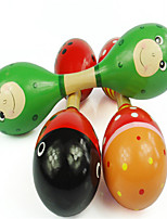 Children's Dducational Toys Rattle Cartoon Wooden Color Claves Early To Double Sand Hammer Instrument