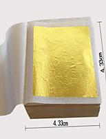 10pcs 24K 4.3CM X 4.3CM Genuine Edible Gold Foil - Gilding Goldleaf Sheet For Facial Beauty Mask Spa Food Grade 99% Gold