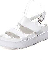 Women's Shoes Platform Creepers / Round Toe / Open Toe Sandals Dress / Casual Black / White