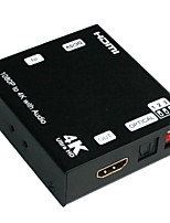 HDMI Audio Extractor Splitter with Optical SPDIF & RCA L/R Audio Out Remote Control with MHL, Ultra HD, Full3D, 4kx2k