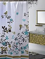 180 * 180 Have No Buckle Waterproof PEVA Shower Curtain Hooks Coffee Tree
