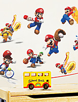 3D Wall Stickers Wall Decals Style Mario Waterproof Removable PVC Wall Stickers