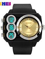 Sports Watch Masculino LCD / Calendário / Cronógrafo / Impermeável / Dois Fusos Horários / Relógio Esportivo Digital Digital