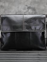 Men Cowhide Shopper Shoulder Bag / Wallet / Business Card Holder - Black