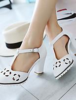 Women's Shoes Heel Heels / Round Toe Sandals / Heels Outdoor / Dress / Casual Pink / Purple / White / Beige/F-15