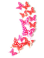 3D Wall Stickers Wall Decals Style Dream Butterfly PVC Wall Stickers(12CM-2PCS、9CM-2PCS、7CM-8PCS)