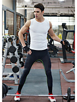 Men's Running Bottoms Fitness Breathable / Quick Dry / Compression Black / Blue Sports Wear