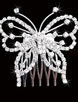 Butterfly Hair Combs Rhinestone Wedding/Party Headpiece Hair Comb for Wedding Party Hair Jewelry