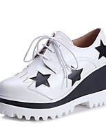 Scarpe Donna-Sneakers alla moda-Tempo libero / Ufficio e lavoro / Casual-Zeppe / Plateau / Punta arrotondata-Zeppa-Finta pelle-Nero /