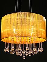 Drum Pendant Modern 4 Lights Winding Lampshade Crystal Chandelier Chandelier Modern Minimalist Design Restaurant