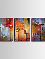 Hand-Painted Abstract Style / Modern Oil Painting for living room , Canvas Three Panels