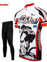 Tasdan Cycling Clothing Cycling Wear Men's Short Sleeve Jerseys Suit Custom Cycling Jerseys & Tights  Pants Sets Gel Pad