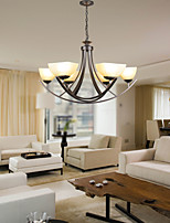 10W Tradicional/Clássico LED Pintura Metal Luzes PingenteSala de Estar / Quarto / Sala de Jantar / Cozinha / Quarto de Estudo/Escritório