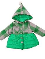 Girl's Black / Green / Yellow Jacket & Coat Cotton Winter