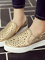 Women's Shoes Platform Platform/Creepers/Round Toe Fashion Sneakers Casual White/Silver/Gold