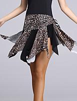 Latin Dance Tutus & Skirts Women's Performance Milk Fiber Draped 1 Piece Multi-color
