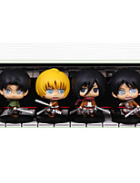 Attack on Titan PVC One Size Anime Action Figures Model Toys Doll Toy 4pcs 10cm