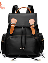 M.Plus® Women's Fashion Korean Solid Nylon/PU Leather Backpack