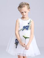 Vestido de Niña Florista-Corte en A Corta/Mini-Satén / Tul / Poliéster Sin Mangas