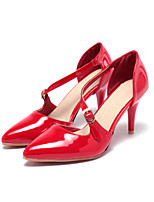 Women's Sandals Summer Fall Comfort Ankle Strap Patent Leather Wedding Office & Career Party & Evening Stiletto Heel Buckle Walking