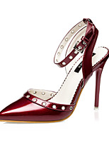 Women's Shoes  Stiletto Heel Heels / Pointed Toe / Closed Toe Heels Casual Black / Red / Silver / Burgundy