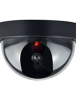1pc Indoor Outdoor CCTV Fake Dummy Dome Security Camera with Flahsing RED LED Light