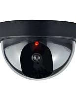 caméra de sécurité dôme factice 1pc intérieur cctv extérieur faux avec flahsing led rouge