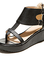 Women's Shoes Platform Sling back/Toe Ring Sandals Dress/Casual Black/White